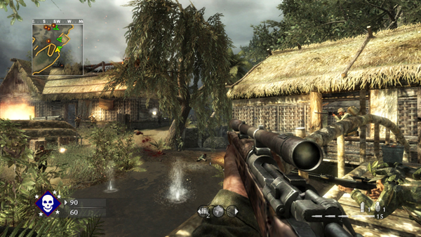 Gunnin' for that #1 spot: Sales of Call of Duty: World at War helped Activision post earnings of nearly $1 billion this past year, the company announced today. Guitar Hero and World of Warcraft were also named as leading Activision-Blizzard franchises.